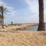 The hotels beach