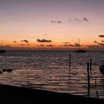 Sunrise at San Pedro in front of wild mango...