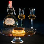 creme caramel and grappa riserva