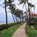 Oceanfront walkway