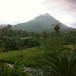 View of the Arenal Volcano from our room
