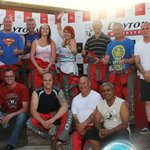 The podium. group from Leoline Travel