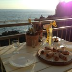 Lovely cannoli and limoncello on the balcony