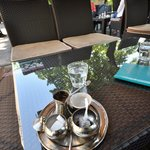 Local coffee with lokum served in hotels garden