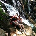 Nearby hiking trail with beautiful waterfall