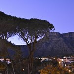 View of Table Mtn at dawn from room balcony