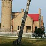 Old Mackinaw Lighthouse House,  southwestern side