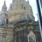 Frauenkirke right outside our window