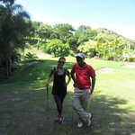 Golfing lesson with Hennix