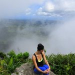 Up in the clouds at the top of the Gros Piton.