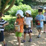Little Crafter's Camp:  Playing drums