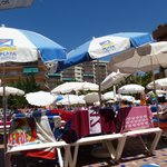 POOL SUNBEDS AND UMBRELLAS AT 3PM