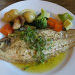 Delicious Dover Sole with herb butter