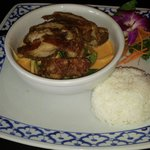 Crispy duck with red curry. Yummy!!!!