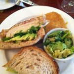 lunch - turkey off bone multigrain thick bread and the brussell sprouts