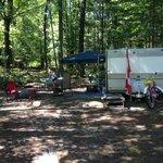 Our campsite - site 72