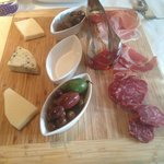 Antipasto Misto (assorted Italian meats and cheeses, olives, and mushrooms)