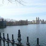 O Lago bem no meio do Central Park