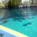 very blue sea