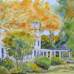 Watercolor of our lodge.