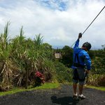 One of the first few zip lines to get you in the mood and comfortable in the gear.