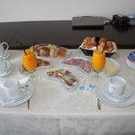 Pequeno-almoço servido no quarto