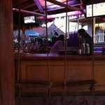 Rope swing bar seats.