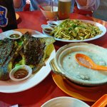 Chili Sting Ray, Frog Porridge and Noodles with Squid