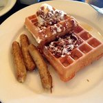 waffles and chicken sausage