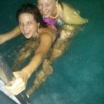 kids swimming in nice clean hotel pool