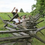 There are miles and miles of wood rail fencing around the Battle of Gettysburg