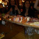 Platter of German meats/cheeses and spreads
