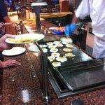 Huevos fritos recién hechos
