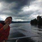 On Loch Ness approaching the castle