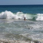 Fun in the sun and ocean waves in Sycamore Cove