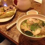 Pho and summer rolls.