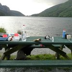 picnic table and view