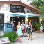 Outside Corsairs waiting for a delicious dinner