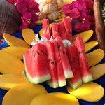 La fruta estaba deliciosa