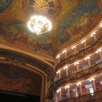 Pinturas no teto do Teatro