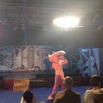 La pantera rosa en el show!!! Buenísima!!!!