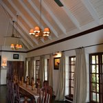 The lovely dining room in the main house