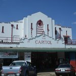 The beautiful Capitol theatre in downtown Livingstone