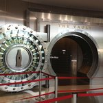 The entrance to the vault with the secret formula.