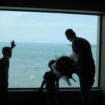 Blick wenn man im 13. Stock aus dem Aufzug aussteigt