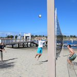 Sand Volleyball pits at Resort