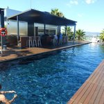 The rooftop pool bar