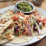 Boathouse tacos (chicken) with guacamole