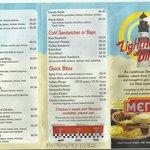 Part of our menu