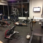 the fitness area